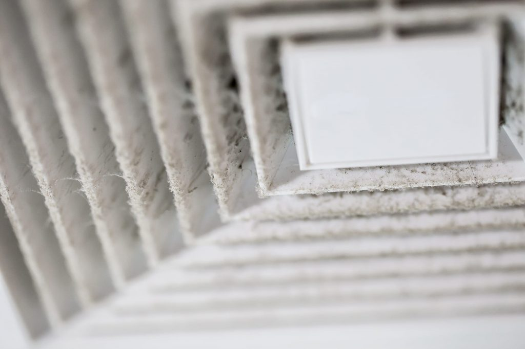 A duct cleaning may be needed when you notice dust buildup on vents.